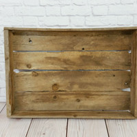 Vintage Wood Plant Tray Crate