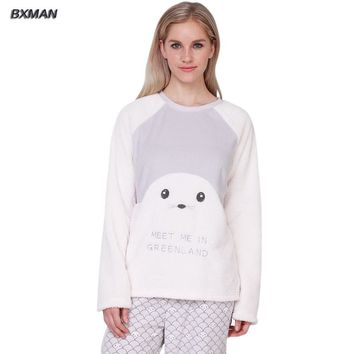BXMAN Brand Spring&Autumn Women Pajamas Soft & Comfortable Baby Seal Modeling Super Cute Pajamas sets Size XS~L