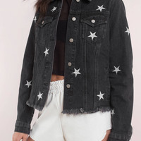 Honey Punch Dark Star Denim Jacket