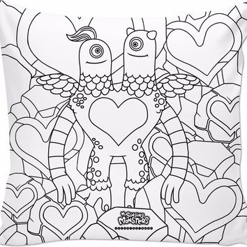 ROCP My Singing Monsters: Coloring Book Schmoochle Pillow