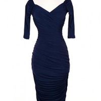 Monica Dress in Navy Blue