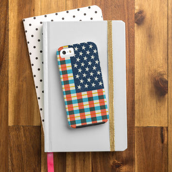 Nick Nelson Plaid Flag Cell Phone Case