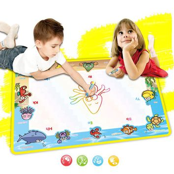 50x36cm Baby Water Painting Drawing Play Mat with 2 Pcs Magic Pen Writing Board Doodle Drawing Educational Toys for Kids Gifts