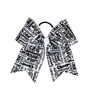 Product: Black & White Cheer Bow