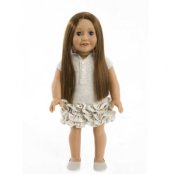 Treasured Dolls - Light Skin with Long Straight Light Brown Hair and Beautiful Blue Eyes