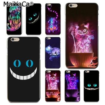 MaiYaCa Cheshire Cat Alice In Wonderland  Special Offer Luxury phone case for iPhone 8 7 6 6S Plus X 10 5 5S SE 5C Coque Shell