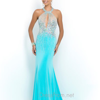 Open Back Blush Prom Gown 9970