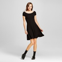 Women's Off the Shoulder Rib Skater Dress Solid - Mossimo Supply Co.™