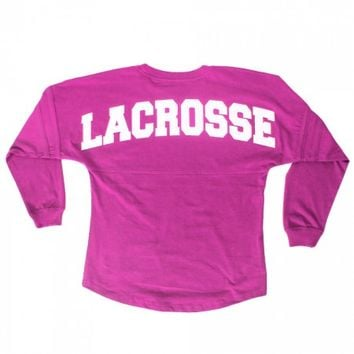 Girls Lacrosse Varsity Long Sleeve - Pink | Lacrosse Unlimited