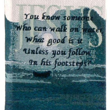 """Bible Cover -  """" You Know Someone Who Can Walk On Water. What Good Is It Unless You Follow In His Footsteps """""""