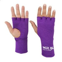 Muay Thai Boxing Inner Gloves Protective Hand Wrap (Purple, Large)