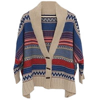 Geometric Pattern Cover-up Sweater