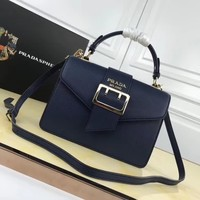 Prada Women Leather Shoulder Bag Satchel Tote Bag Handbag Shopping Leather Tote Crossbody Satchel Shouder Bag created created created