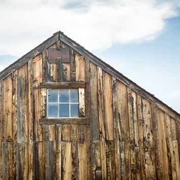 Wood Wall Art, Rustic Wall Decor, Old Country Barn Pictures, 8x10 Photographic Print, Distressed Wood, Brown Wall Art - Old Barn in Bodey