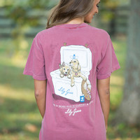 Lily Grace Garnet And Gold Pocket Tee