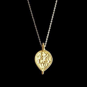 Calista Gold Goddess Necklace