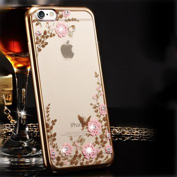 KRY Flash Sexy Phone Cases For iPhone 6 Case 6s SE 5 5s Cases Flower Soft TPU Cover For iPhone 7 Case 7 Plus Luxury Capa Coque