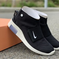 FoG x Nike Air Fear Of God Mid Moccasin  Womens Mens Fashion Sneakers Sport Shoes