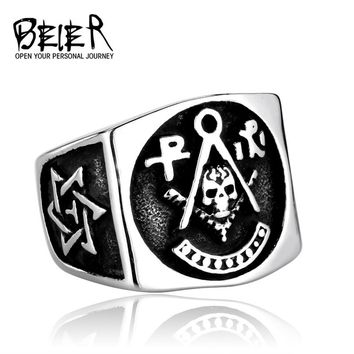 Motorcycle Ring Unique Skull Moto Biker Fashion Gift Stainless Steel Dragon Mens Ring Gothic Hiphop Christmas Moto Ring BR8-386
