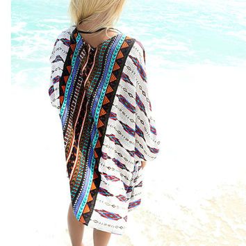 New 2017 Bikin Cover ups Chiffon Beach dress Sarong pareo Print Swim Cover up Plus Size Beach Cover up Kaftan Beachwear