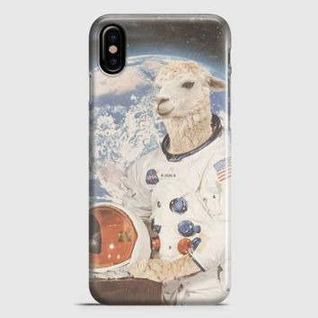 Astronaut Llama Space iPhone X Case | casescraft