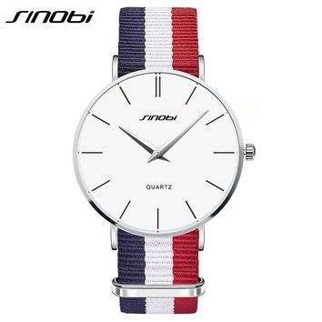 Ultra Slim Men Casual Quartz watch Top Brand Luxury Classic Nylon Strap Men's Wristwatch Japan 2016 relojes hombre Sinobi New