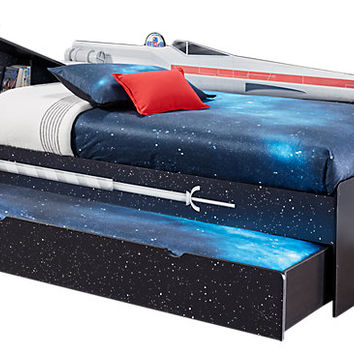 Star Wars X-wing™ Black 4 Pc Left Twin Bookcase Bedw Trundle - Trundle Beds Colors