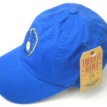 Milwaukee Brewers MLB Baseball Cap One Size American Needle Cotton Twill Royal