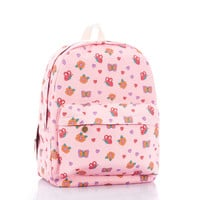 Stylish Princess Fashion Canvas Butterfly Pink Backpack = 4887998404
