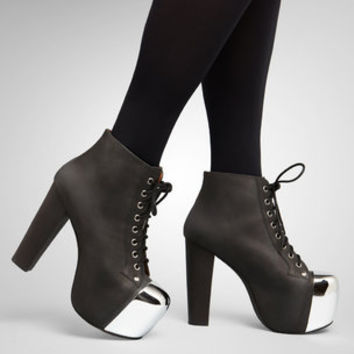 Jeffrey Campbell Black Lita - Steel Cap