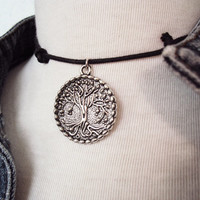 Tree of Life Necklace ~ 90s Choker Necklace ~ 90s Grunge ~ Grunge Style ~ Soft Grunge Choker ~ Grunge Fashion