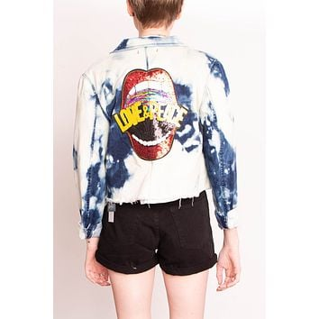 Libby Story OOAK Bleached Patch Jacket