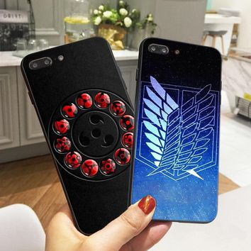 Cool Attack on Titan Anime  Case for iPhone 8 Case Naruto Soft Silicone Phone Cover for iPhone X 6 6S 5 5S XR XS Max SE 7 Plus AT_90_11