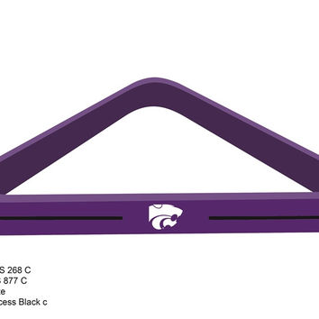 Kansas State University Billiard Ball Triangle Rack