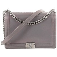 Chanel Reverso Large Glazed Calfskin Boy Flap Bag