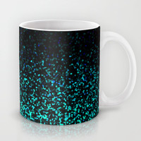 Mint Sparkle Mug by M Studio (NOT REAL GLITTER - PRINTED IMAGE)