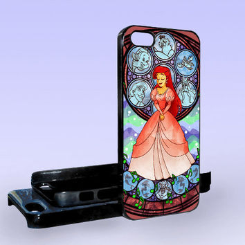 Beautiful Ariel Little Mermaid - Print on Hard Cover - iPhone 5 Case - iPhone 4/4s Case - Samsung Galaxy S3 case - Samsung Galaxy S4 case