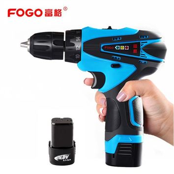 FOGO 16.8V Cordless hand electric drill Percussion Manual electric screwdriver Socket wrench screw driver Auto repair power tool