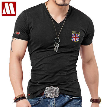 MYDBSH Brand Men T Shirt Cotton Union- Jack Clothing Male Slim Fit Tee shirt Man England Flags T-Shirts Skateboard Swag Clothing