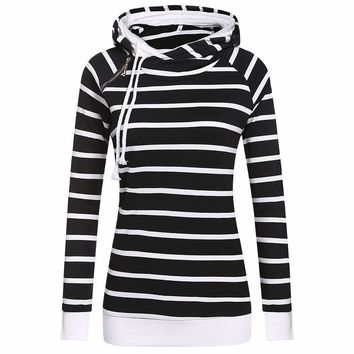 "FANALA Women's Casual Double ""O"" Collar 1/4 Incline Zip Pullover Hoodie"