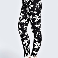Anna Monochrome Jacquard Printed Leggings