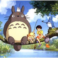 My Neighbor Totoro Cast Fishing Poster 11x17