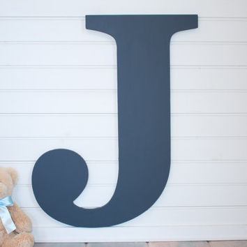 Large Wooden Letter Baby Nursery decor wall hanging  alternative wedding guest book wedding guest registry bridal shower gift