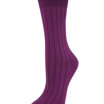 Essential Ribbed Crew Socks