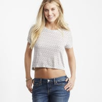 Seriously Soft Mosaic Crop Easy Tee
