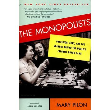 "The Monopolists: Obsession, Fury, and the Scandal Behind the World's Favorite Board Game by Mary Pilon (Bargain Books) - Plus Free ""Read Feminist Books"" Pen"