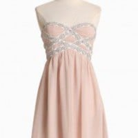Graceful Waltz Strapless Dress | Modern Vintage Dresses