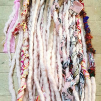 Dreadlock set of 22 Wool Dreads Accent Dreads Ready to Ship