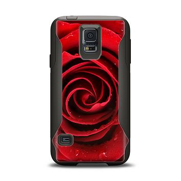 The Layered Red Rose Samsung Galaxy S5 Otterbox Commuter Case Skin Set
