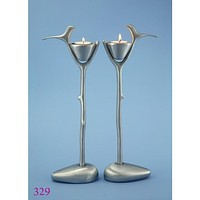 Candle Holders - Art Nouveau Birds